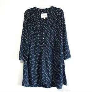 Amour Vert 100% silk floral print shirt dress